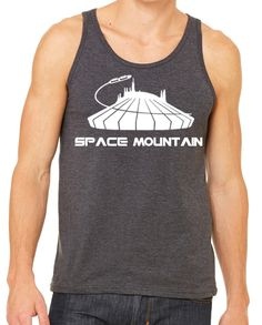 Mens Space Mountain Ride Tank  Disneyland Shirt Disney World Shirt Magic Kingdom Tank by ItsMyHappyPlace on Etsy https://www.etsy.com/listing/490537865/mens-space-mountain-ride-tank-disneyland