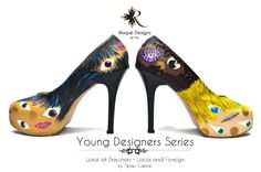 Lokal at Dayuhan / Local and Foreign by Tipay Caintic shoes / hand painted / pumps Young Designers, Pumps, Heels, Custom Shoes, Christian Louboutin, Hand Painted, Fashion, Heel, Custom Tennis Shoes