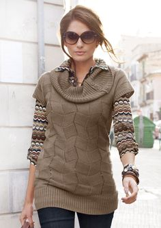 ANISTON Longpullover im Online Shop von Ackermann Versand #Mode #Fashion #Herbst #Autumn Boho, Men Sweater, Sweaters, Shopping, Fashion, Fashion Trends, Autumn, Breien, Moda