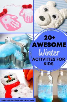 Winter can seem dreary with short days and not as much outdoor time. This ultimate list of activities for kids to do in the winter will help make those miserable days to by quicker and have more fun! Winter Activities For Kids, List Of Activities, Popsicle Stick Crafts, Craft Stick Crafts, Baking Soda Experiments, Snow Ice Cream, Kindness Challenge, Indoor Crafts, Magic Reindeer Food