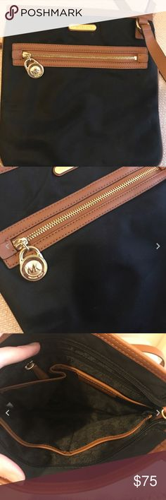 Michael Kors Large Black Nylon crossbody Great condition! Only carried 2 times. Michael Kors Bags Crossbody Bags