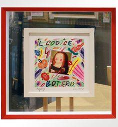 """Bruno Donzelli, """"Il Codice Botero"""", serigrafia materica a smalti, cm 25X25, tiratura 99 es. fondo nero + 100 es. fondo bianco, anno 2010, € 150,00 cornice inclusa"""