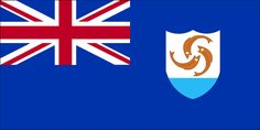 The flag of Anguilla was officially adopted in 1990.           As a British dependent territory the island flies the United Kingdom (UK) flag. The Anguillan coat of arms features three interlocking dolphins over blue water.