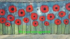 Poppies on corrugated metal. I'm so happy with how this turned out. You can visit my blog rcrunningwild.blogspot.com