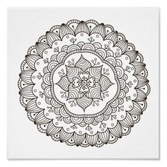 Spend some time relaxing with this coloring page for adults. Once  finished, you can hang it on your wall or give it as a gift. Coloring is  known to reduce tension and stress, so get started on de-stressing with  this piece of art. #zazzlemade #coloringpage #poster #mandala #meditation #yoga #coloring  #coloringforadults