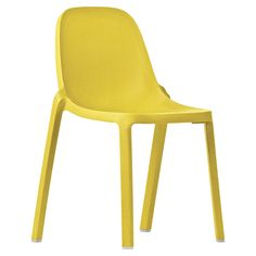 Broom Side Chair in Yellow by Emeco