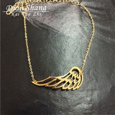DIANSHANGKAITUOZHE 10PCS Minimal Single Angel Wing Bracelet Men Gold Silver Feather Bracelets & Bangles For Women Pulseras