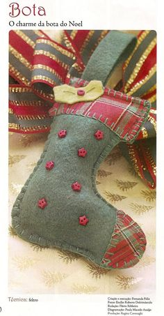 Crafts & Cia: How to make Ankle Glove and Santa Felt