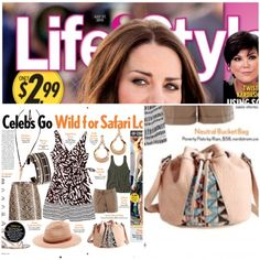 Poverty Flats by rian 'Fijian Weave Bucket Bag' featured in Life & Style magazine.