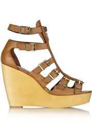 12th Street by Cynthia VincentPacey leather wedge sandals