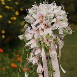 Eye-catching Cascade Satin Wedding Bouquet