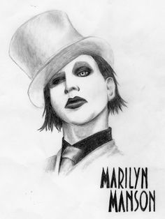marilyn manson drawings - Google Search