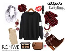 """Sweatshirt Romwe"" by natzumys ❤ liked on Polyvore featuring Michael Kors, Warehouse, Uno6eight, Manic Panic, AG Adriano Goldschmied and MICHAEL Michael Kors"