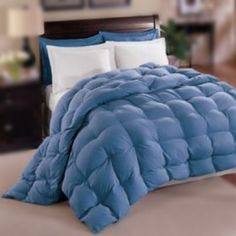 Natural Comfort Allergy-Shield s TM Luxurious King Down Alternative Comforter, Blue Natural Comfort Blue Bedding Sets, Bed Comforter Sets, Blue Comforter, Duvet, Comforters, Comfy Bedroom, Bedroom Decor, Console, Le Pollen