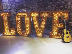 Rustic love signs