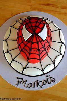 gateau spiderman facile a faire (2)