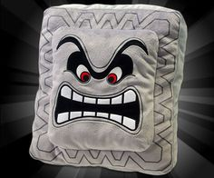 No game themed bedroom would be complete without the Super Mario Bros Thwomp pillow. Instead of crushing you with their mighty power, this comfortable pillow...