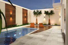 Top Home Design 96 Harmonious Pool Patio Design For The Modern Home 79 Small Swimming Pools, Small Backyard Pools, Small Pools, Small Patio, Piscina Rectangular, Kleiner Pool Design, Backyard Layout, Backyard Ideas, Pergola Ideas
