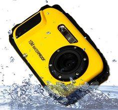 PowerLead Digital Video Waterproof Camera TFT Screen Underwater Camera with 9 Mega Zoom-Yellow Top Digital Cameras, Helmet Accessories, Camera Deals, Instant Film Camera, Waterproof Camera, 35mm Camera, Camera Equipment, Photo Printer, Zoom Photo
