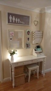 I like this. Maybe a small table between laundry & pantry. Small lamp, charging station. Mail. Receipts, coupons. Bibles and quarterlies.
