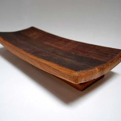 Wine Barrel Serving Tray with Stave Foot by bottlehood on Etsy, $75.00