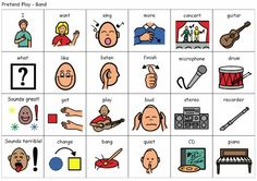 """Expanding utterance length. Pictures with visuals underneath. Really excellent. For: Action words, """"has"""" sentences, past tense, prepositions, and simple present tense (taken from laura's speech blog)"""