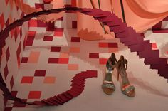 Flowing Florals.  Redefining Design 2015. Visual Merchandising Arts, School of Fashion at Seneca College.