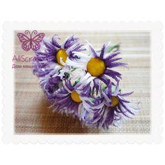 """Букетик цветов """"Ромашки"""", цвет бело-фиолетовый"""