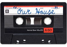 OUR HOUSE CASSETTE TAPE DOORMAT