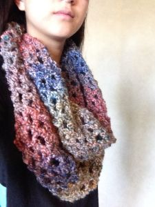Long, Easy Crochet Infinity Scarf