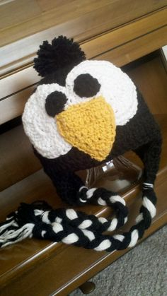 Crocheted Penguin Hat for Ander