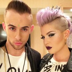 Perfect make up Cute Hairstyles For Short Hair, Girl Hairstyles, Short Hair Styles, Show Makeup, Party Makeup, Coachella Makeup, Kelly Osbourne, Undercut Hairstyles, Pixie