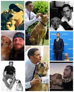 Tom Hardy and his dog Woodstock