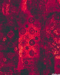 Rich  Kashmir - Lustrous Flowers - Raspberry