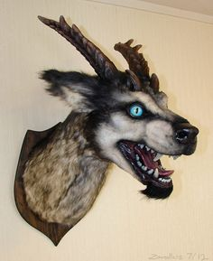 Fake taxidermy beast by staticcreature on Etsy