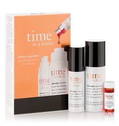 time in a bottle duo | age-defying serum for face and eyes | philosophy new!