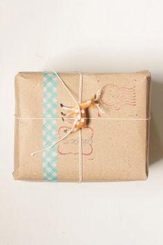 x-mas gift wrapping DIY