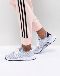 the latest 81e5e f2b35 Shop adidas Originals Deerupt Runner Sneakers In Blue at ASOS.