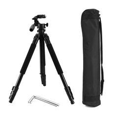 Camera Tripod, Professional Pan Head Travel Tripod, 66 Inch Portable Lightweight Stable Aluminum Tripod for Sony Nikon Canon DSLR Camera(Pantan Q5)