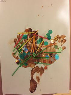 Children's handprints are turned into seasonal trees with mixed materials. Child Care, Reggio, Autumn Inspiration, Trees, Seasons, Inspired, Children, Life, Art