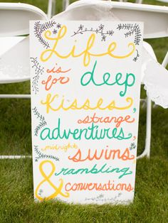 life is for...  Photography By / http://cluneyphoto.com