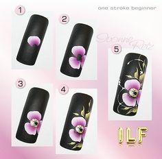 """35 Likes, 2 Comments - Ivonne Retz (@ivonne_retz) on Instagram: """"ILF PaintArts ♡ www.ilf-store.de #ivonne_retz #nails #nailart #onestroke #naildesign #nailstagram…"""""""