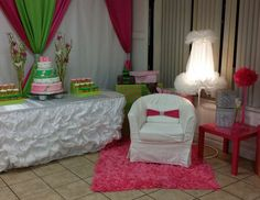 "Pink and green / Baby Shower ""Pink and green"" 