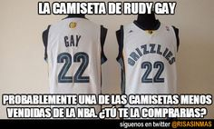La camiseta de Rudy Gay. Probablemente una de las camisetas menos vendidas de la NBA. ¿Te la comprarías?