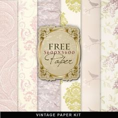 Freebies Vintage Paper Kit:Far Far Hill - Free database of digital illustrations and papers