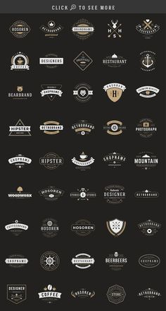 Big bundle of 150 Retro Vintage Insignias or Logotypes volume 2. Save $85! Vector design elements, business signs, logos, identity, labels, badges, stamps, t-shirts.