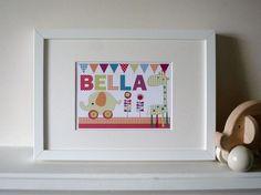 Mamas & Papas Jamboree personalised print small-unframed mamas and papas picture