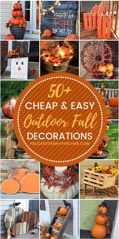 50 Cheap and Easy Outdoor Fall Decorations #fall #falldecor #falldecorations #diy #diyfalldecor