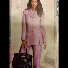 Pantsuit in gray Gray. Lightweight. Woven buttons. Elastic waist. Never worn. Roaman's Jackets & Coats