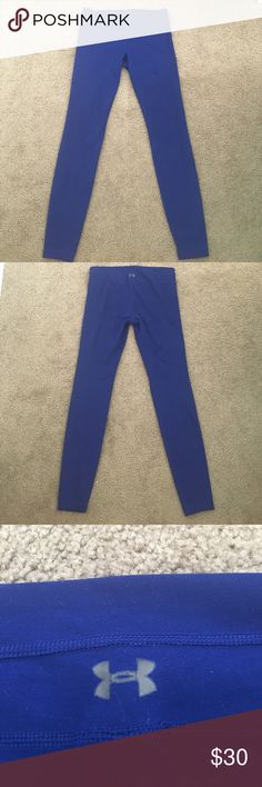Under Armour Leggings Navy blue leggings from under Armour. Thick so they aren't see through. Used a few times but no joke stains or piling. Under Armour Pants Leggings